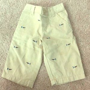 Gymboree 6-12 months khaki shorts with airplanes